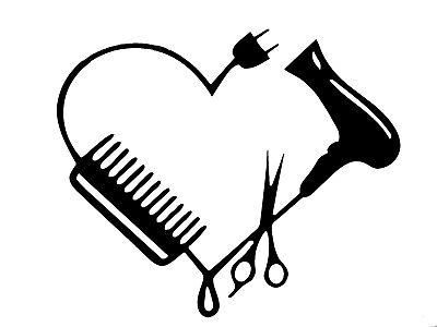 Download Blow Dryer Scissors Comb Heart Beautician Barber Beauty ...