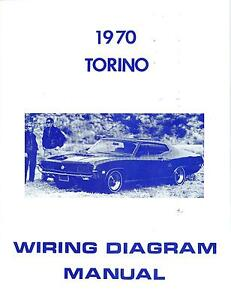 1970 70 FORD TORINO WIRING DIAGRAM MANUAL | eBay