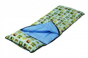 details about sunncamp nature childs kids sleeping bag with built in pillow
