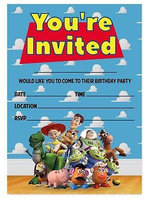 toy story theme birthday party invitations kids invites children woody buzz ebay