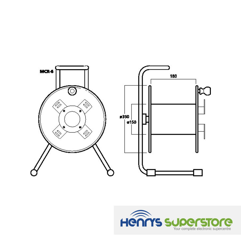 Img Stageline Mcr 6 100m Empty Cable Drum Cable Reel