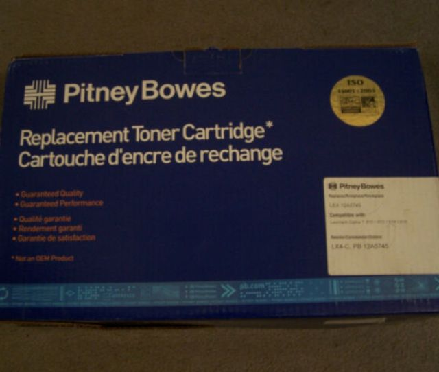Pitney Bowes 12a5745 Replacement Black Toner Cartridge Ink T610 T612 T614 T616