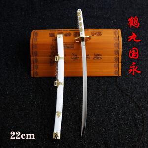 1:5 One Piece Roronoa Zoro Wado Ichimonji Espada Katana Japonesa 23cm Blanco #2