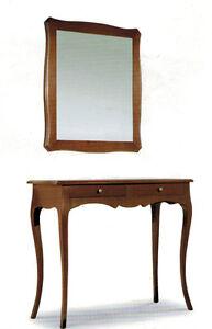 Due piani d'appoggio e mensola. Consolle E Specchiera In Arte Povera Specchio Ingresso Classico Mobile Specchio Ebay