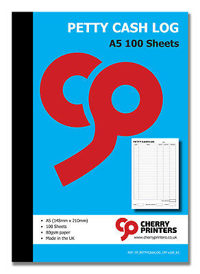 The excel spreadsheet format is ideal for creating log books. Cherry Petty Cash Log Book A5 148mm X 210mm 100 Pages 80gsm Ebay