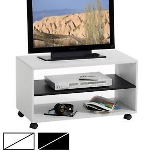 meuble tv etagere sur roulettes atlanta 2 niches