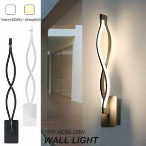 Modern 16W Minimalist LED Ceiling Light Indoor Wall Sconce ... on Modern Indoor Wall Sconce id=72518