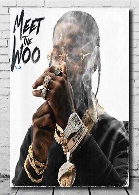 art pop smoke poster meet the woo 2 album 24x36 32x48 light canvas gift e 479 ebay