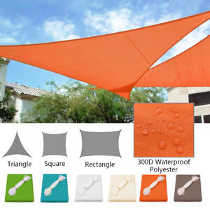 details about waterproof sun shade sail patio pool top cover canopy 300d uv outdoor awnings