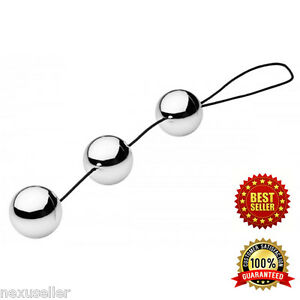 Image Is Loading 3 Silver Ben Wa Balls Kegel Exercise Beads