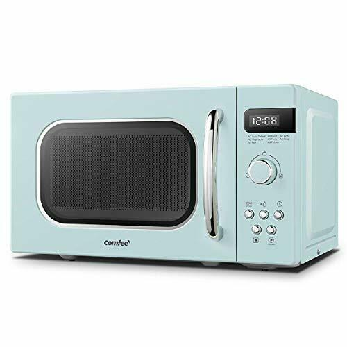 comfee retro style 800w 20 litre microwave oven with 8 auto menus 5 cooking