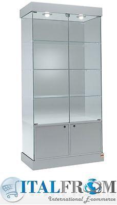 vitrine de verre pour boutique magasin de meubles h188xl93xw46cm theque italfrom ebay
