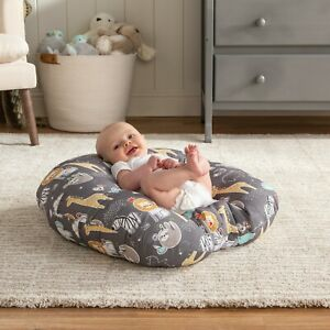details about boppy pillow newborn lounger new animals storybook happy baby zoo