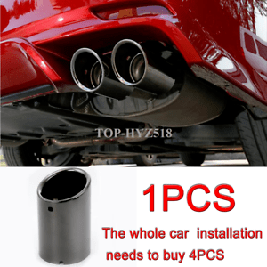 details about 1pcs black titanium rear exhaust muffler tip end pipe for toyota camry 2018 2020