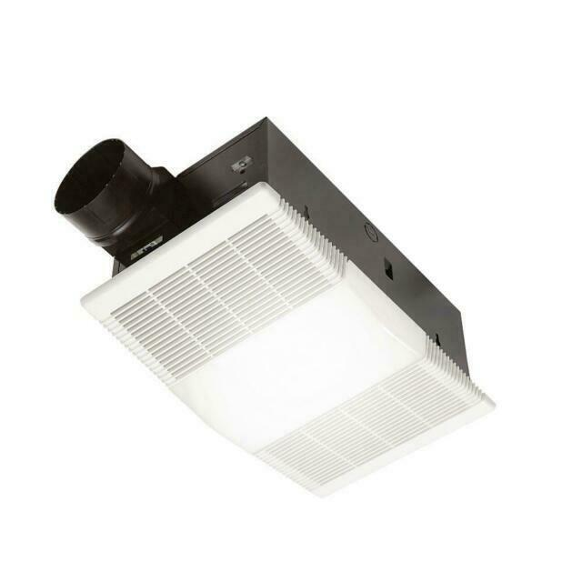nutone 765h80l 80 cfm ceiling bathroom exhaust fan with light and 1300w heater