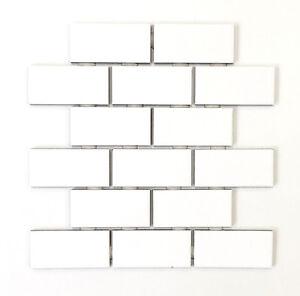 details about 2x4 white subway glossy ceramic wall tile kitchen backsplash bathroom 10 sheet