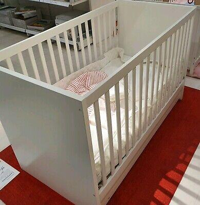ikea stuva fritids lit bebe lit enfant lit junior 70x140 blanc avec tiroirs ebay