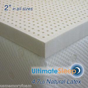 Image Is Loading New 2 Inch 100 Natural Latex Mattress Pad