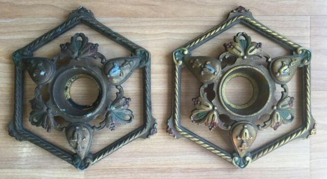 OLD VTG SCONCE SURROUND WALL CEILING LIGHT FIXTURE PART ... on Wall Sconce Parts id=80409