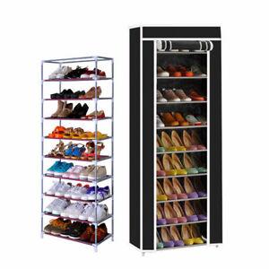 details sur etageres a chaussures meuble rangement chaussure armoire placard avec housse