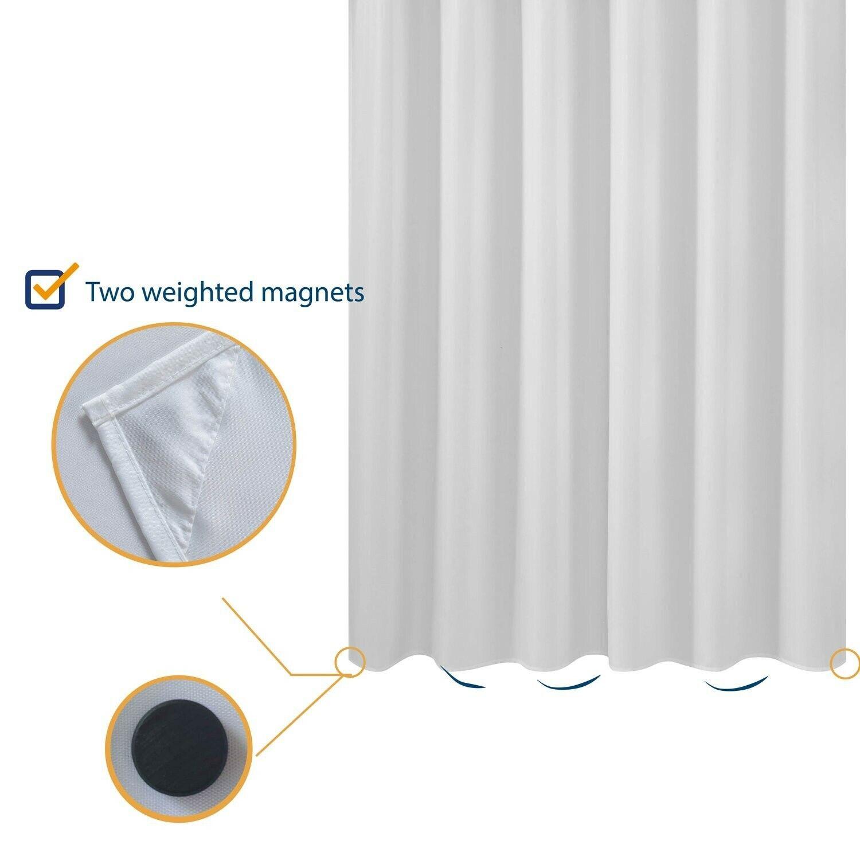 short cut shower curtain liner fabric 72 x 65 shorter length hotel quality spa