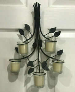 Wall Sconce with 5 Votive Candle Holders Brown Branches ... on Wall Sconces Hobby Lobby id=86924