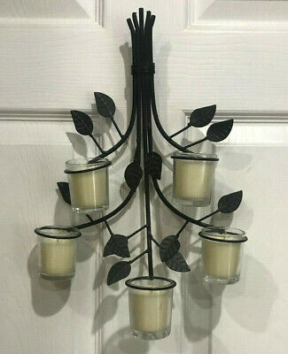 Wall Sconce with 5 Votive Candle Holders Brown Branches ... on Hobby Lobby Wall Candle Sconces Wall Candle Holders id=56431
