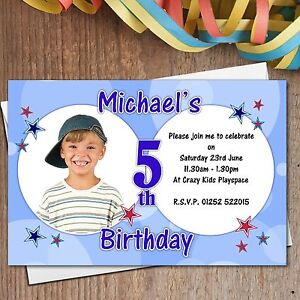 details about 10 personalised boys 3rd 4th 5th 6th 7th birthday party invitations n169 any age