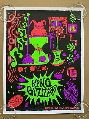 king gizzard the lizard wizard philadelphia 2019 tour poster jason galea ebay