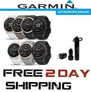 NEW Garmin Fenix 6s Standard, PRO, Sapphire GPS Watch w Wearable4U Power Pack