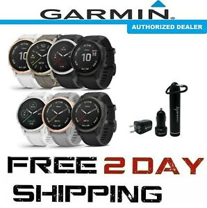 NEW Garmin Fenix 6s Standard, PRO, Sapphire GPS Watch w Wearable4U Power Pack