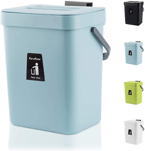 details about hanging small trash can with lid under sink waste bin for kitchen food waste bin