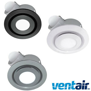 details about ventair airbus 200 pro v ip44 round bathroom 10w led exhaust fan new