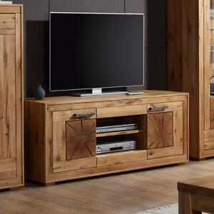 tv board 2 gaja lowboard hifi mobel wildeiche massiv natur geolt mit