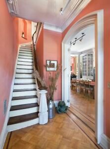 Plain Vinyl Hall Wallpaper Hallway Stairs Coral 5952 06 Paste The Wall Ebay