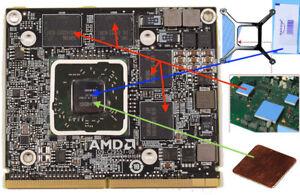 details sur kit de remplacement carte graphique 6770m pour imac pour carte graphique hd 6970