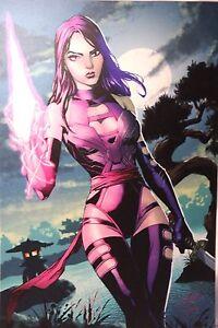 Psylocke Odagawa Autograph LARGE Comic Sketch Art POSTER 11x17 X-Men Marvel