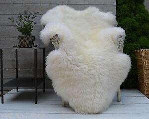 blanc de luxe et ivoire tapis peau de