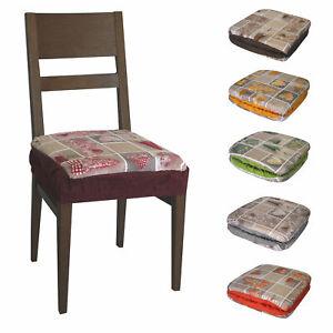 cuscini per sedie da cucina. Coppia Cuscini Per Sedia Con Elastico Shabby Ebay