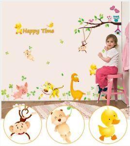 Scopri gli stickers murali della cameretta per bambini animali divertenti. Wall Stickers Decorazione Bambini Adesivi Murali Animali 180x125 Cm Ebay