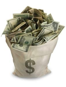 BAG OF MONEY GLOSSY POSTER PICTURE PHOTO currency dollars bills rich decor $ 418