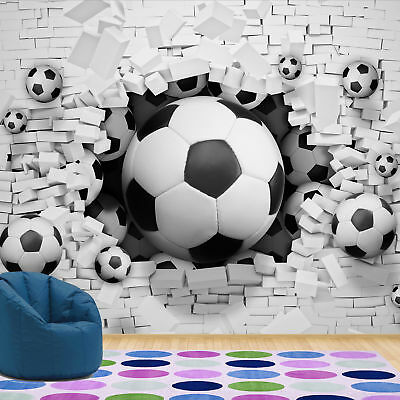 Wall Mural Wallpaper Football 3d Boys Bedroom Kids Photo Wallpaper 20104v4 5055966781642 Ebay