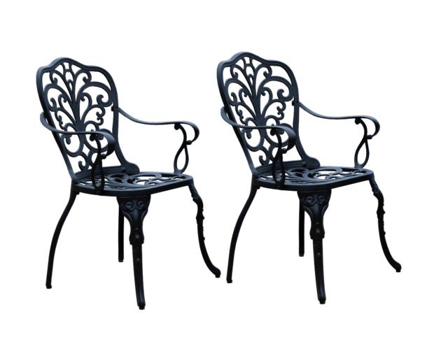 cbm 2 outdoor cast aluminum patio furniture arm chair b