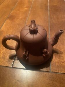 Chinese Zisha Clay Teapot W/Stamp On Bottom. Free Shipping