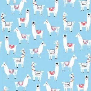 No Drama LLama Alpaca Fabric By Dear Stella White On