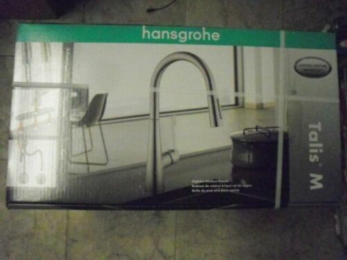 pre2 hansgrohe talis m pull down kitchen faucet 2 function spray f18