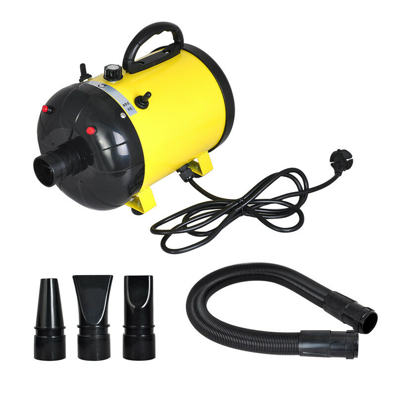 2400W Pet Hairdryer Dog Cat Groomming Blow Hair Dryer Quick Dray With 3 Nozzles