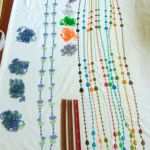 Vintage Hippie Bead Door Curtain Awesome Colors Plastic Beaded Strands Only For Sale Online Ebay