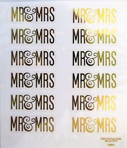 Details About Mr Mrs Gold Script Wedding Invitations Thanks You Notes Ps Foil Stickers