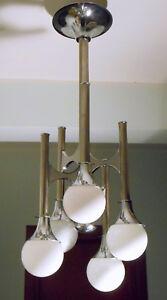 Sciolari gaetano chandelier brass lampadario vintage in ottone space age anni 60s 70s 20th mid century design modernariato sospensione. Lampadario Sciolari Anni 70 Acciaio Cromato Asta Telescopica Sfere In Vetro Ebay